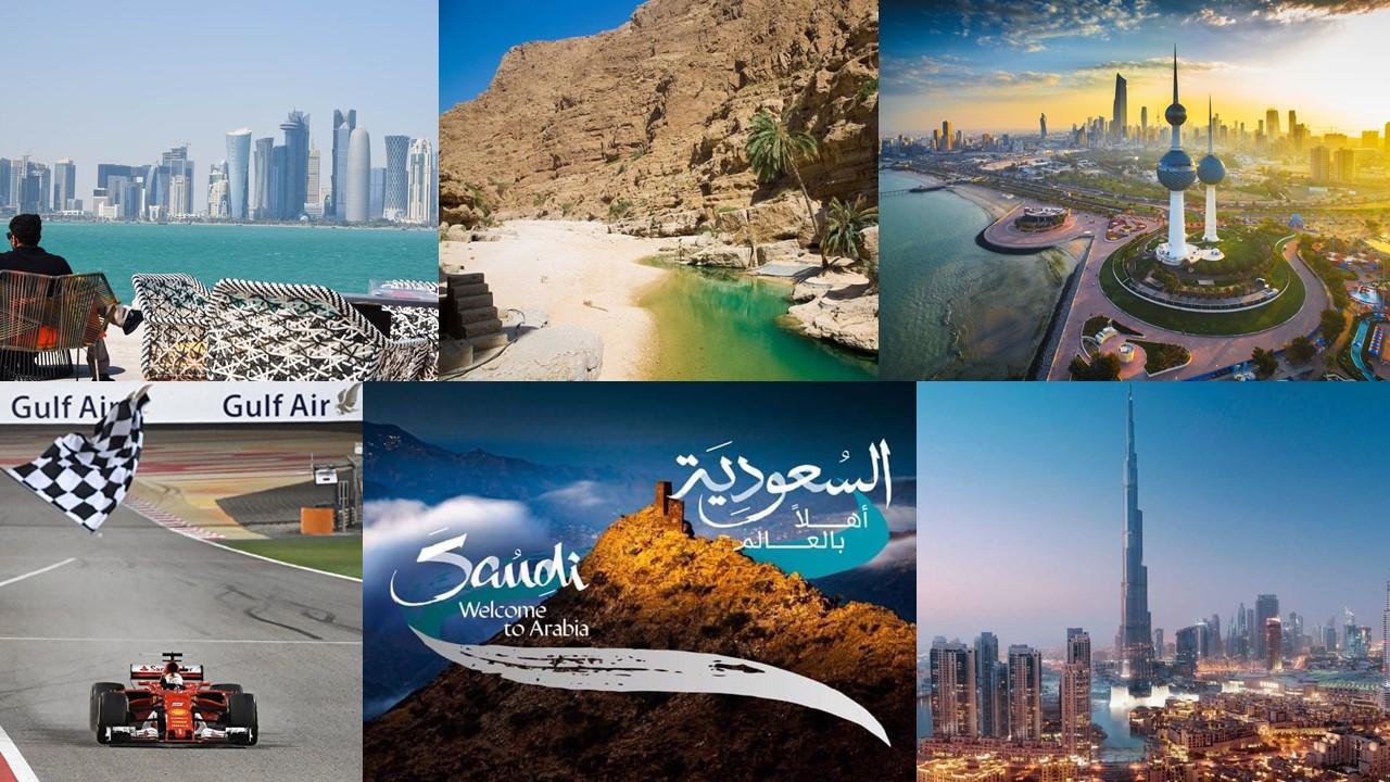 6 стран Персидского залива: Катар – Оман – Кувейт – Бахрейн – Саудовская Аравия – ОАЭ
