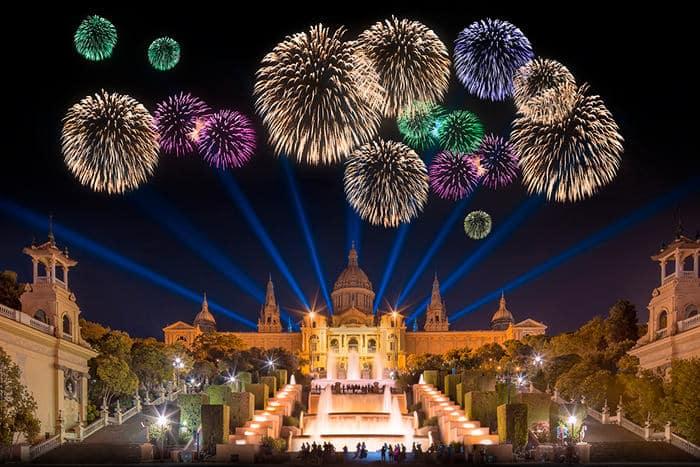 Новый год 2020 в Барселоне
