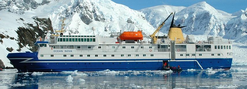 Антарктида с перелетом через пролив Дрейка  и пересечением полярного круга на судне «Ocean Nova»